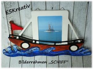 Maritimer Bilderrahmen *FISCHKUTTER - SCHIFF*