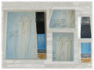 Acrylbild / Mixed Media / Acrylbild Thema Zweisamkeit