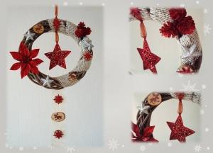 Weihnachtlicher Tür- / Wandkranz