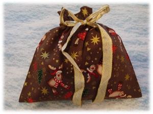 Geschenkesack / Geschenkebeutel *LUSTIGE ELCHE*