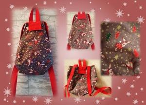 Kleiner Verwandlungsrucksack mit großem Volumen / Weihnachtsrucksack für den Weihnachtsmarktbesuch