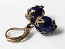 Blaue Beere Ohrhänger
