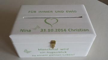 Hochzeit Kiste Briefkasten Erinnerungskiste NurVonMir ♡ - Handarbeit kaufen