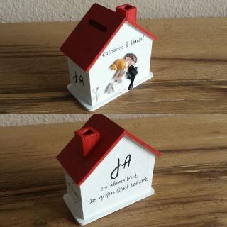 Spardose Hochzeit Haus Geldgeschenk personalisiert NurVonMir ♡ - Handarbeit kaufen