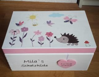 Erinnerungskiste Schmetterling Blumen Taufgeschenk NurVonMir ♡