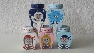 Milchzahndose, Zahndose Prinzessin, Pirat, Rakete, Astronaut, Dinosaurier, Monster, Einhorn  ♡ NurVonMir  - Handarbeit kaufen