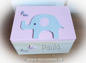 Erinnerungskiste Elefant Holzkiste Holz Taufgeschenk NurVonMir ♡ (Kopie id: 100274784)