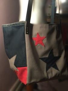 ~la frogette~ Stars, Shopper im coolen Farb- und Materialmix