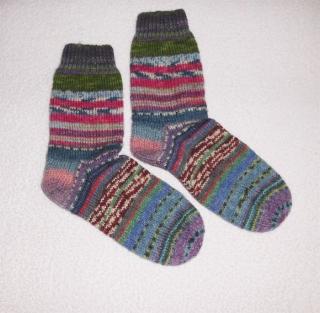 Socken Gr. 39, Restesocken, handgestrickt