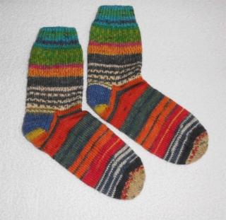 Socken Gr. 40, handgestrickt