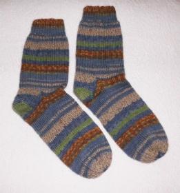 Socken Gr. 40, handgestrickt - Handarbeit kaufen
