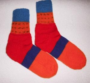 Socken Gr. 40, Restesocken,handgestrickt
