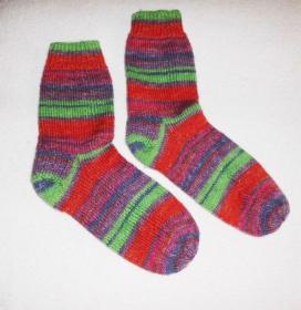Socken Gr. 39, handgestrickt - Handarbeit kaufen