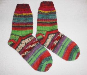 Socken Gr. 39, Restesocken, handgestrickt - Handarbeit kaufen