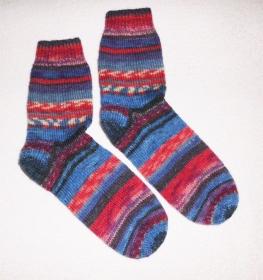 Socken Gr. 40, Restesocken, handgestrickt - Handarbeit kaufen
