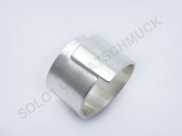 Silberring -Simplicity- aus gebürstetem 925er Silber - Handarbeit kaufen