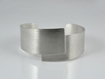 Silber - Armreif -Simplicity- / Eleganter Armreif aus 925er Silber
