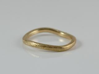 Vorsteck-Ring -Minimalistic Gold- handgefertigter Ring aus 333er Gelb oder Rotgold