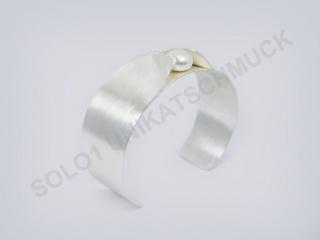 handgefertig 925 Silber  Armreif - Naciente -Perle - Handarbeit kaufen