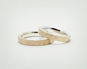 Silber/ 585 Gold / Eheringe Trauringe Verlobungsringe - Duo - handgearbeitet