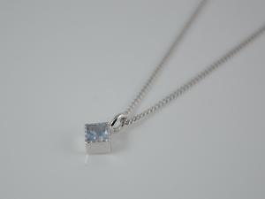 Silber Anhänger Aquamarin mit Kette ★Adriana★ rhodiniert - Handarbeit kaufen
