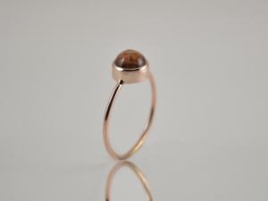 Feiner 585er Roségold-Ring mit Turmalin ★Apriko★  - Handarbeit kaufen