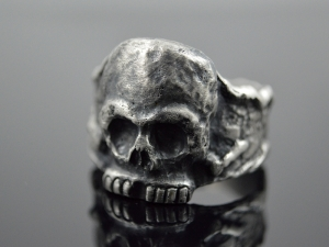Skullring ★ Calavera ★ Handgefertigt Unikat/ Sterling Silver - Handarbeit kaufen