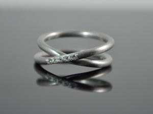 Silber-Ring ★Marilyn★ 925er Silber rhodiniert / handgemacht - Handarbeit kaufen