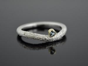 Silber-Ring ★Snake-Eye★  925er Silber 585er Gelbgold Topas - Handarbeit kaufen