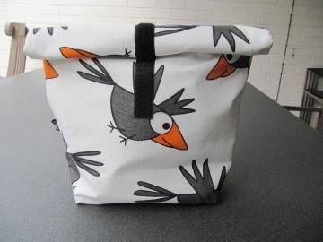Lunchbag - Rolltasche - Kulturtasche  -Raben   - Handarbeit kaufen