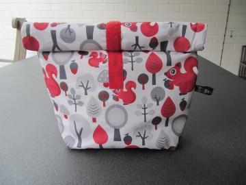 Lunchbag - Rolltasche - Kulturtasche  , Eichhörnchen