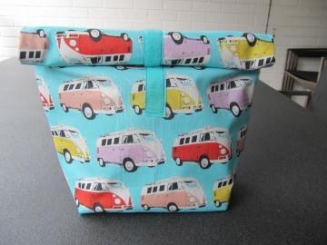 Lunchbag - Rolltasche - Kulturtasche  , Oldtimerbusse  - Handarbeit kaufen