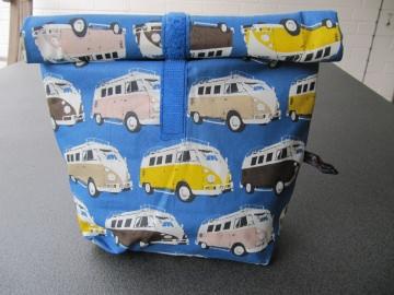 Lunchbag - Rolltasche - Kulturtasche  , Oldtimerbusse