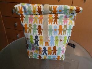 Lunchbag - Rolltasche - Kulturtasche  ,children of the world - Handarbeit kaufen
