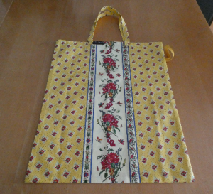 Einkaufsbeutel,zusammenfaltbar,Provencemuster in gelb,rot und hellgelb) (Kopie id: 100221371)
