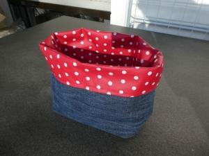 Utensilo aus used Jeans,Aufbewahrungskörbchen für alle Gelegenheiten - Handarbeit kaufen