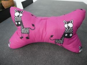 Leseknochen,Nackenkissen,schielende Zebras auf pink - Handarbeit kaufen