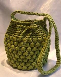Häkeltasche aus washi Textilgarn grün - Handarbeit kaufen