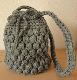 Häkeltasche aus washi Textilgarn grau - Handarbeit kaufen