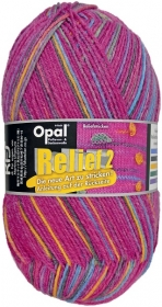Sockenwolle Opal Relief 2 Fb. 9664 pink