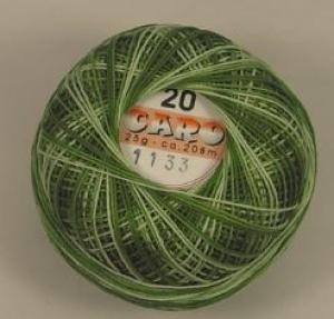 Häkelgarn Caro 10 dunkelgrün-weiss 1133 - Handarbeit kaufen