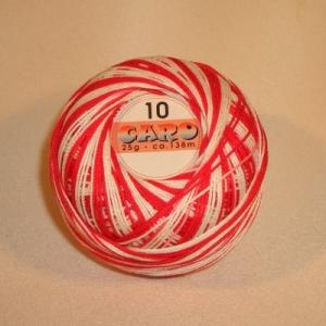 Häkelgarn Caro 10 rot-weiss 1112 - Handarbeit kaufen