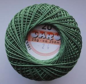 Häkelgarn Caro 20 grün 0024