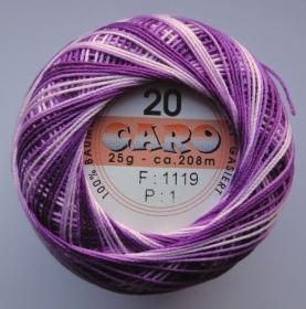 Häkelgarn Caro 20 lila-flieder 1119