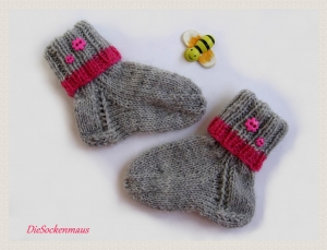 ♥ süße Babysöckchen für Neugeborene u. 3-6 Monate