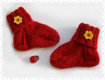 ♥ süße Babysöckchen Flower Power, für Neugeborene