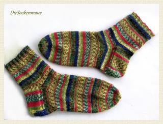 handgestrickte, wunderschöne Socken Gr. 40/41