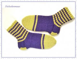 handgestrickte Socken Gr. 38/39