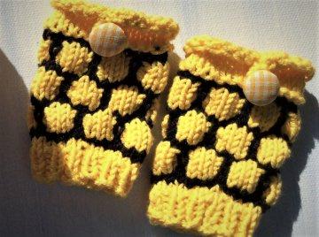Pulswärmer für Neugeborene * Bienen Waben (Kopie id: 100047249)