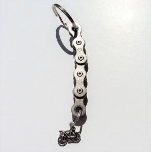 Schlüsselanhänger Fahrradkette mit kleinem fahrradanhänger :)